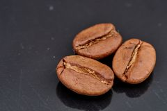 Φασόλια καφέ στο μαύρο υπόβαθρο σύμφωνο με στοκ φωτογραφίες με δικαίωμα ελεύθερης χρήσης
