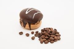 Φασόλια κέικ και καφέ Στοκ φωτογραφίες με δικαίωμα ελεύθερης χρήσης