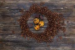 Φασόλια και καραμέλες καφέ Στοκ Εικόνα