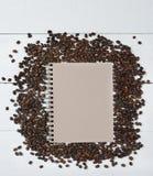 Φασόλια και μαξιλάρι Coffe Στοκ Εικόνες