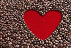 Φασόλια καφέ βαλεντίνων Στοκ Φωτογραφίες