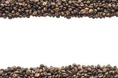 Φασόλια καφέ που απομονώνονται Στοκ Εικόνες