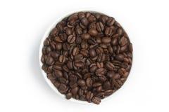 Φασόλια καφέ σε ένα κύπελλο Arabica Coffea Στοκ φωτογραφία με δικαίωμα ελεύθερης χρήσης