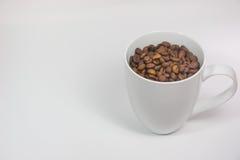 Φασόλια καφέ σε ένα φλυτζάνι Στοκ φωτογραφία με δικαίωμα ελεύθερης χρήσης