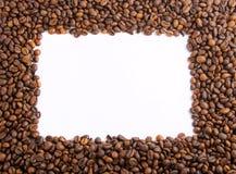 Φασόλια καφέ ως πλαίσιο Στοκ εικόνα με δικαίωμα ελεύθερης χρήσης