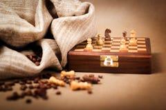 Φασόλια σκακιερών και καφέ Στοκ Εικόνες