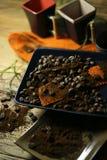 Φασόλια φλιτζανιών του καφέ και καφέ Στοκ Φωτογραφία