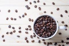 Φασόλια φλιτζανιών του καφέ Στοκ φωτογραφία με δικαίωμα ελεύθερης χρήσης