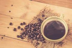 Φασόλι καφέ με τον καπνό Στοκ φωτογραφίες με δικαίωμα ελεύθερης χρήσης