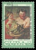Φαύνος και Bacchus από Rubens Στοκ φωτογραφία με δικαίωμα ελεύθερης χρήσης