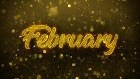 Φεβρουάριος επιθυμεί την κάρτα χαιρετισμών, πρόσκληση, πυροτέχνημα εορτασμού διανυσματική απεικόνιση