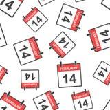 14 Φεβρουαρίου άνευ ραφής υπόβαθρο σχεδίων ημερολογιακών σελίδων Επιχείρηση απεικόνιση αποθεμάτων