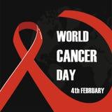 4 Φεβρουαρίου, διανυσματική απεικόνιση ημέρας παγκόσμιου καρκίνου απεικόνιση αποθεμάτων