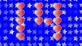 14 Φεβρουαρίου, ημέρα βαλεντίνων ` s του ST, που εκτελείται από τις κόκκινες καρδιές ελεύθερη απεικόνιση δικαιώματος