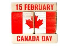 15 Φεβρουαρίου, ημέρα του Καναδά Στοκ φωτογραφία με δικαίωμα ελεύθερης χρήσης
