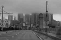 2 ΦΕΒΡΟΥΑΡΊΟΥ 2019 - Λα, ασβέστιο ΗΠΑ - Λος Άντζελες κάτω από το παχύ κάλυμμα των σύννεφων από το Λα ανατολικών πλευρών, ασβέστιο στοκ εικόνες με δικαίωμα ελεύθερης χρήσης