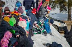 26 Φεβρουαρίου 2017 οι διακοπές Maslenitsa σε Borodino Στοκ Εικόνα