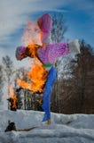 26 Φεβρουαρίου 2017 οι διακοπές Maslenitsa σε Borodino Στοκ φωτογραφίες με δικαίωμα ελεύθερης χρήσης