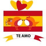 14 Φεβρουαρίου σημαία χωρών ημέρας βαλεντίνων ελεύθερη απεικόνιση δικαιώματος