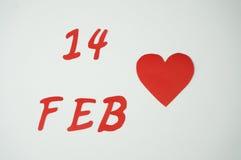 14 Φεβρουαρίου σύμβολο Στοκ Εικόνες