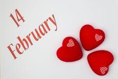14 Φεβρουαρίου Στοκ Εικόνες