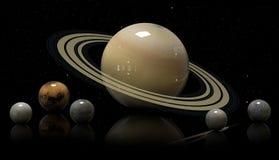 Φεγγάρια και αστέρι του Κρόνου Elements αυτής της εικόνας που εφοδιάζεται από NAS Στοκ Εικόνες