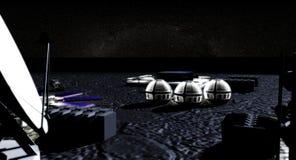 φεγγάρι βάσεων Στοκ Εικόνα