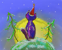 φεγγάρι γατών ελεύθερη απεικόνιση δικαιώματος