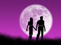 φεγγάρι ζευγών Στοκ φωτογραφία με δικαίωμα ελεύθερης χρήσης