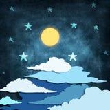 Φεγγάρι και αστέρια απεικόνιση αποθεμάτων
