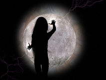 φεγγάρι κοριτσιών Στοκ εικόνες με δικαίωμα ελεύθερης χρήσης