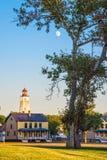 Φεγγάρι πέρα από το οχυρό Hancock Στοκ Εικόνες