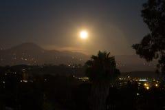 Φεγγάρι πέρα από το Rancho Στοκ Εικόνες