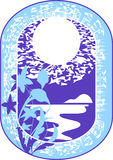 φεγγάρι πλαισίου ελεύθερη απεικόνιση δικαιώματος