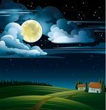 φεγγάρι σπιτιών Ελεύθερη απεικόνιση δικαιώματος