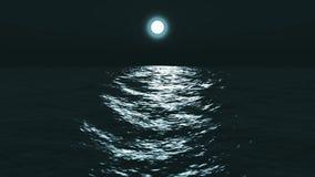 Φεγγάρι στην ακτή της θάλασσας απεικόνιση αποθεμάτων