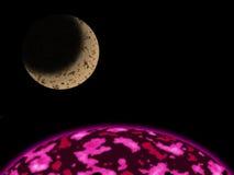 Φεγγάρι στο γαλαξία Στοκ φωτογραφία με δικαίωμα ελεύθερης χρήσης
