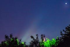 Φεγγάρι τοπίων νύχτας Στοκ εικόνες με δικαίωμα ελεύθερης χρήσης