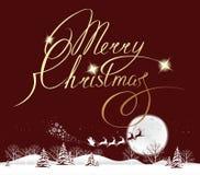 Φεγγάρι Χαρούμενα Χριστούγεννας Στοκ Εικόνα