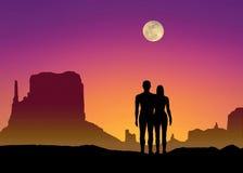 φεγγάρι Adam Eva Στοκ Φωτογραφίες