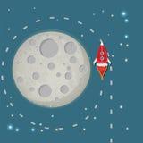 Φεγγάρι Rokets Στοκ Εικόνες