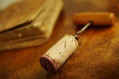 Φελλός μπουκαλιών κρασιού Στοκ Εικόνες