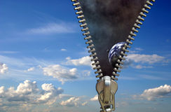 φερμουάρ έννοιας Στοκ φωτογραφία με δικαίωμα ελεύθερης χρήσης