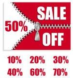 φερμουάρ πώλησης Στοκ εικόνες με δικαίωμα ελεύθερης χρήσης