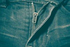 Φερμουάρ στο αναδρομικό εκλεκτής ποιότητας ύφος Jean Στοκ φωτογραφία με δικαίωμα ελεύθερης χρήσης