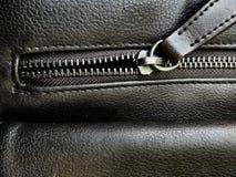 Φερμουάρ της τσάντας δέρματος Στοκ φωτογραφίες με δικαίωμα ελεύθερης χρήσης