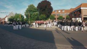 Φεστιβάλ ή παραδοσιακό ` Schà ¼ πιό tzenfest ` επίλεκτων σκοπευτών στην πόλη Sassenberg κοντά σε Muenster, Βεστφαλία απόθεμα βίντεο