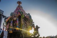 Φεστιβάλ αυτοκινήτων ναών Parthasarathi, Triplicane, Chennai Στοκ εικόνες με δικαίωμα ελεύθερης χρήσης