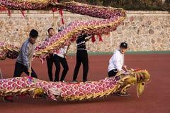 Φεστιβάλ δράκων στην Κίνα, χορός δράκων Στοκ Εικόνες
