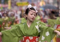 φεστιβάλ ιαπωνικά χορευ&t Στοκ Εικόνα